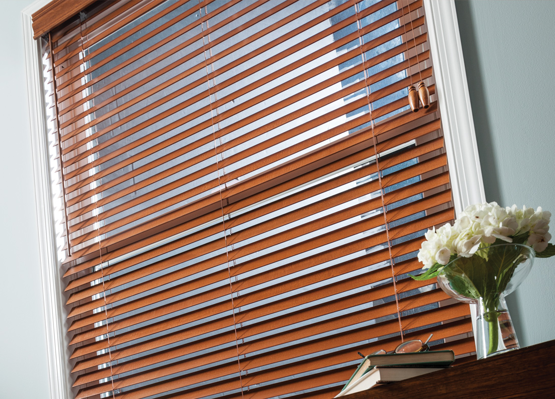 Blinds: Wood, Faux Wood, Fabric & Aluminum